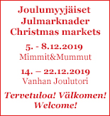 Joulumyyjäiset / Julmarknader / Christmas Markets